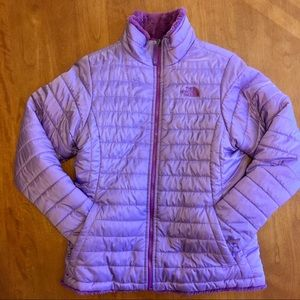 North Face Girls Reversible Puffer Jacket and Hat